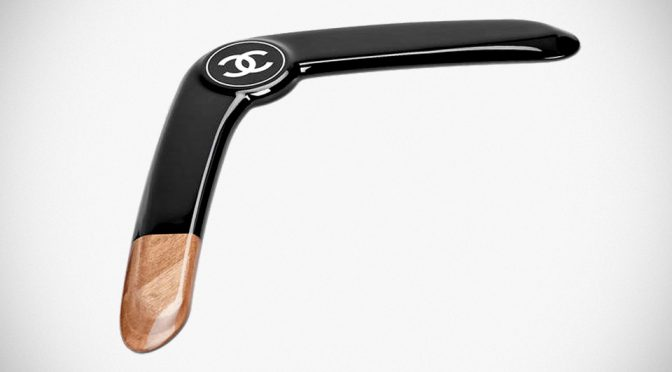 Chanel Sells Wood and Resin Black Boomerang