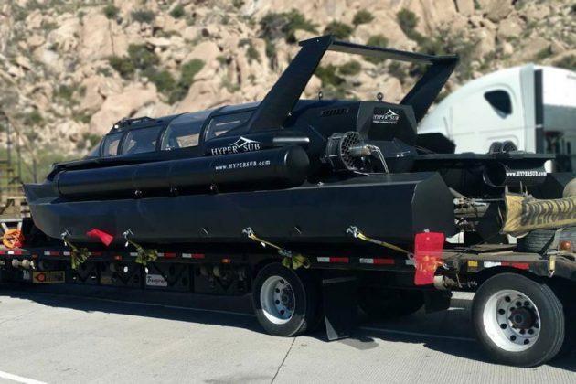 Hyper-Sub Speedboat/Submarine Hybrid Vessel