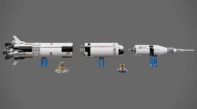 NASA Apollo Saturn V Launches Again, This Time As A Huge 3 Ft LEGO Set