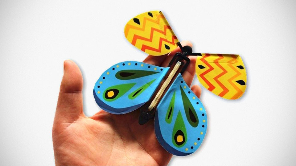 This Flying Butterfly Makes Physical Greeting Card Valid