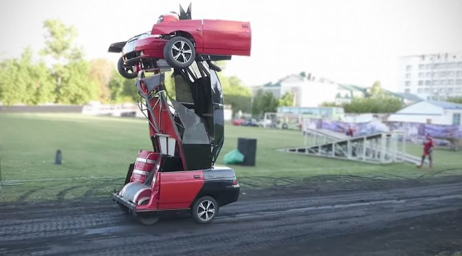 Father And Son Turn A LADA Into A Transformers That Shoots Real Guns