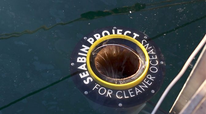 This Is A Floating Trash Can That 'Sucks' Debris Into Its 'Belly'