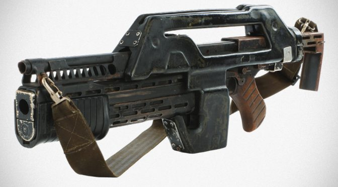 Aliens Colonial Marine M41-A Pulse Rifle Movie Prop