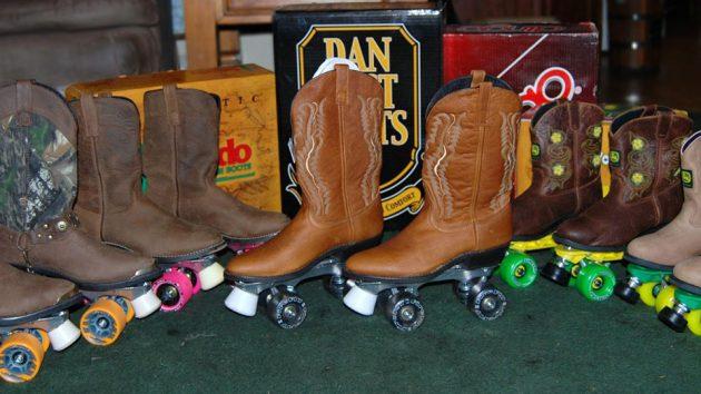 Cowboy Boot Roller Skates by Wayne's Western Wheels