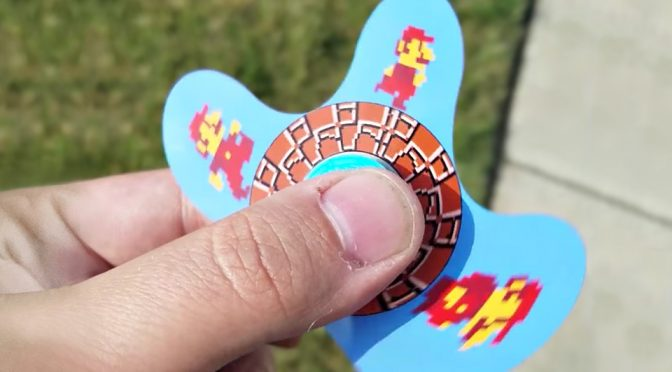 A Custom Fidget Spinner That Makes Mario Runs Is As Cool As It Sounds