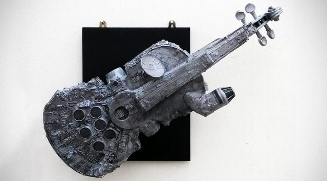 Millennium Falcon Violin Makes For A Vibrant Conversational Piece