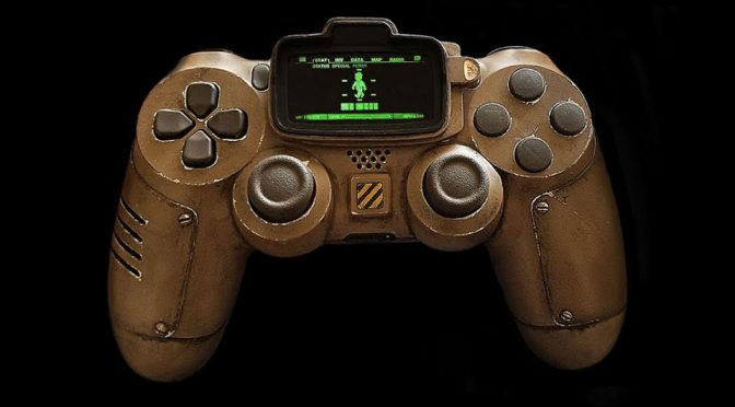 This Custom <em>Fallout</em> DualShock 4 Controller Has A Flipping Pip-Boy