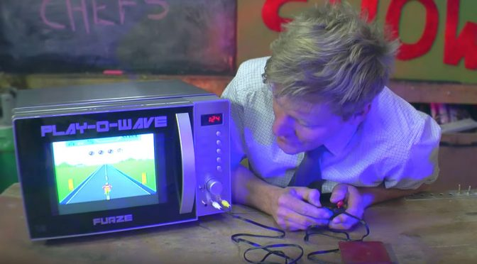 Look! Here's A Fully Functional Microwave That Plays Games Too