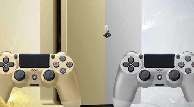 Gold and Silver Limited Edition Sony Playstation 4 for US and EU
