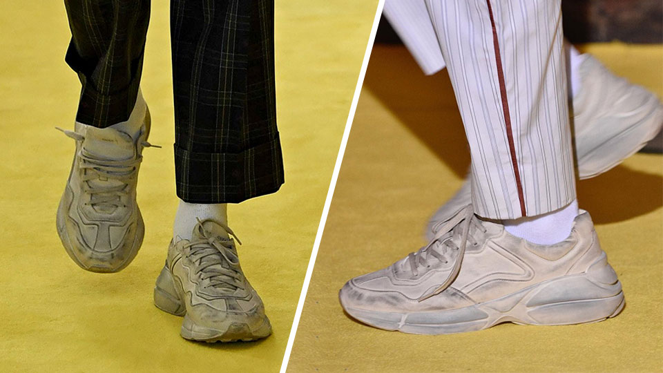 Gucci's $1,250 Dirty White Sneakers