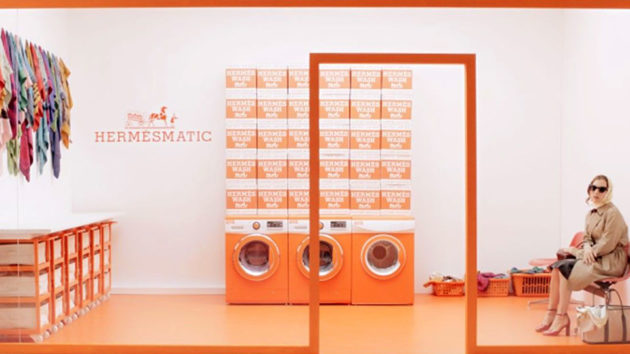 Hermès Laundromat Services For Hermès Scarves in Paris and New York