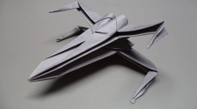 How To Fold An Origami <em>Star Wars</em> X-Wing Starfighter. Yes! It's Possible!
