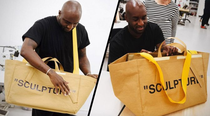 Ikea Teamed Up With Off-White On A Fresh Take Of The Iconic Frakta Bag