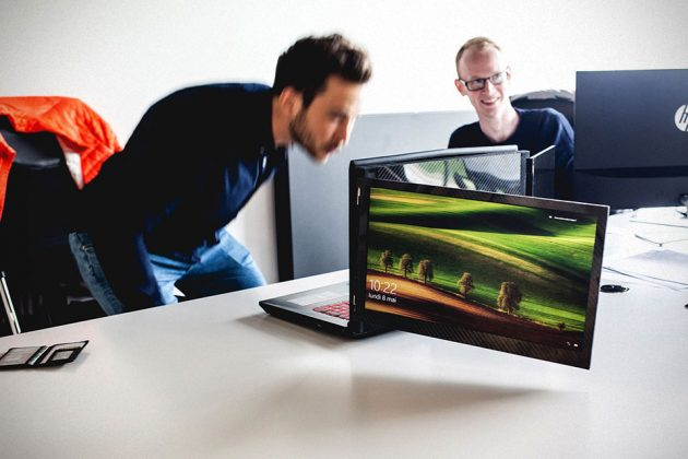 Le Slide Adds Two Displays To Your Laptop