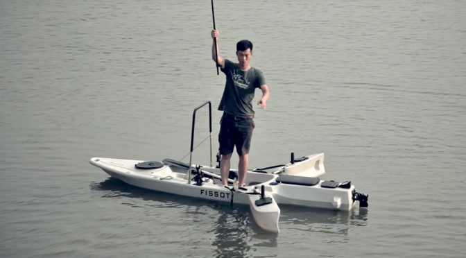 This Powered Kayak Has Retractable Stabilizer So You Can Fish Standing