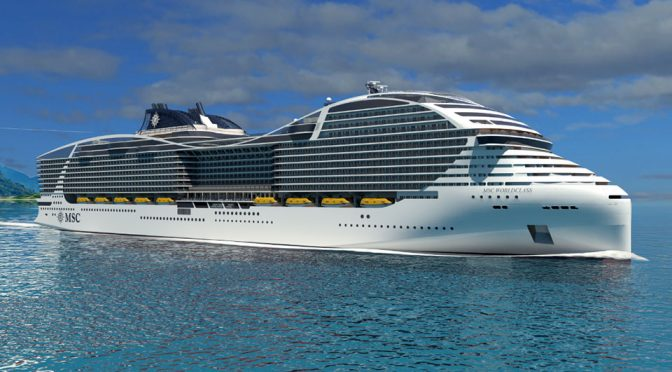 MSC Cruises Unveiled Concept Image Of World's Biggest Capacity Cruise Ship
