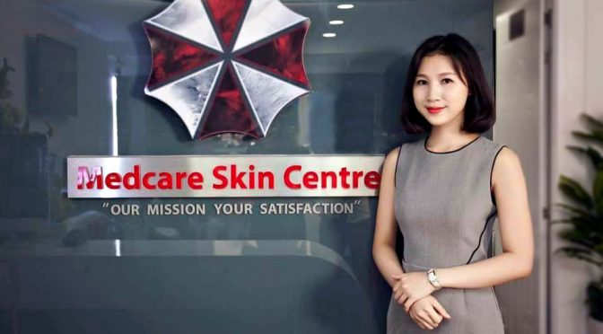 Medcare Skin Centre Vietnam Has Umbrella Corp Logo
