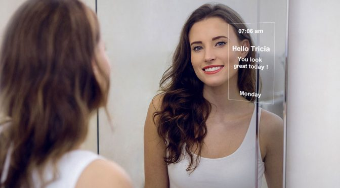 MirroCool Smart Mirror with Built-in Facial Gestures Recognition