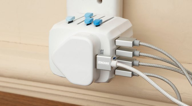 Passport Global Travel Adapter with Auto-resetting Fuse