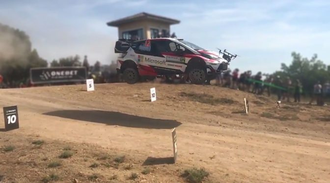 Rally Car Catching Some Air Nearly Took Out A Drone