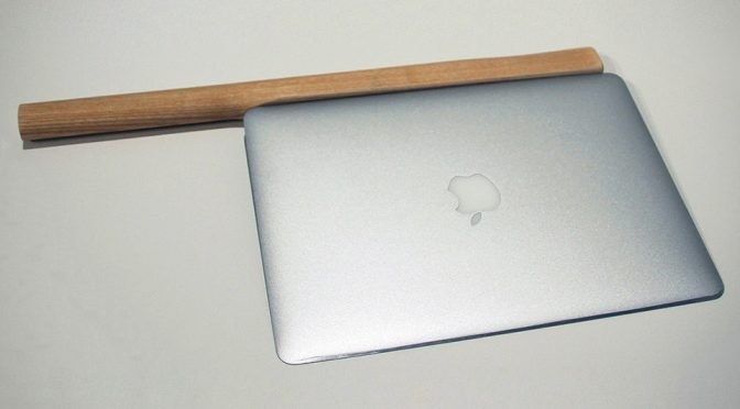 Japanese Artist Sharpened A MacBook Air, Used It To Cut Through An Apple