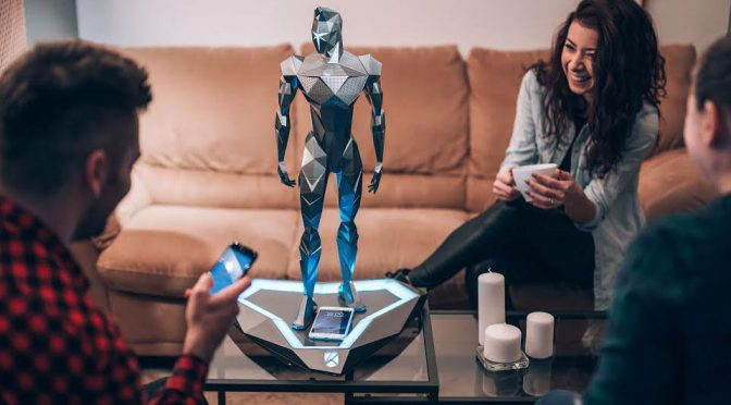 You Will Want This Polygonal Humanoid Speaker Out In Plain Sight
