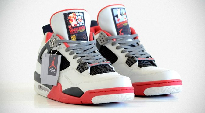 Freaker Sneaks NES-Themed Jordan Comes With Cartridge-shaped Tag