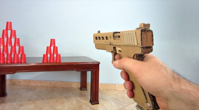 Guy Made A Pretty Damn Powerful Glock 19 Out Of Cardboard