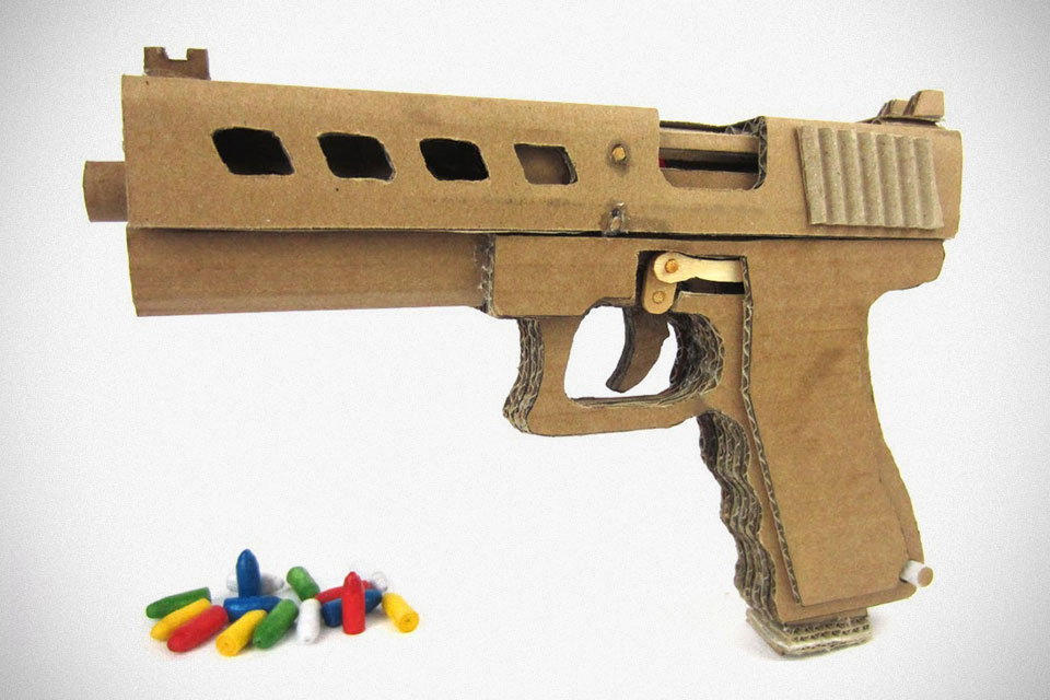 Guy made a pretty damn powerful glock 19 out of cardboard mikeshouts glock 19 with magazine that shoots made with cardboard malvernweather Images