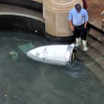 Is Security Robot Taking A Dive Into An Indoor Fountain An Ominous Sign?