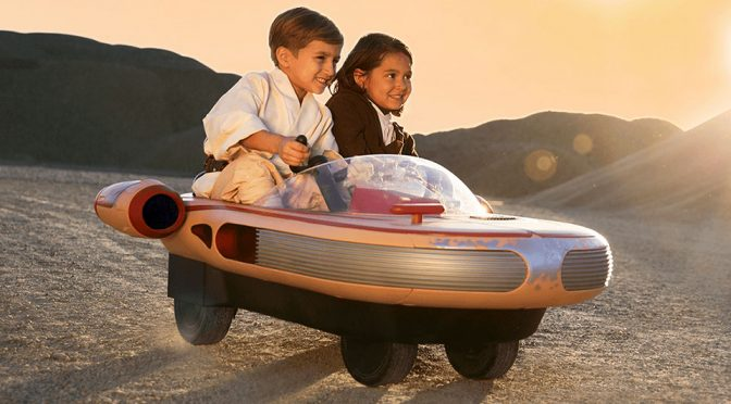Luke Skywalker's Landspeeder Ride-on Toy Makes Kids Happy, Adult Envious