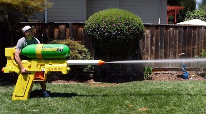 The World's Largest Super Soaker Spits Out Water At Crazy 272 MPH