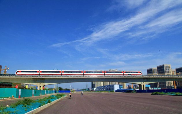 China Second Maglev Train Goes On Trial Operation in Beijing