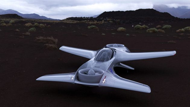 DeLorean DR-7 VTOL Personal Air Transport by DeLorean Aerospace