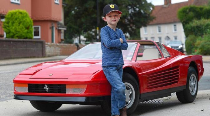 No Kidding. This Restored Testarossa Kiddie Ride Cost As Much As A Porsche!