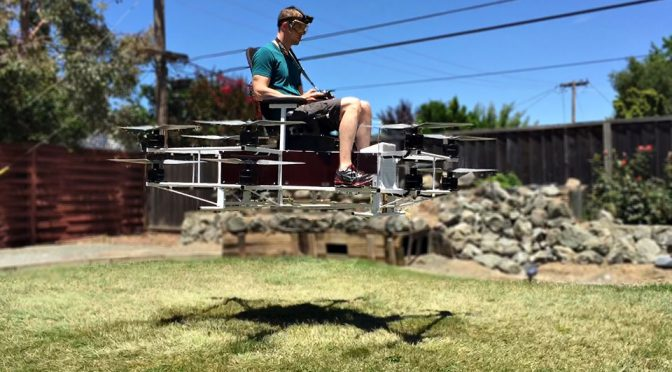 Guy Builds Working 'Hoverbike' In Just Three Weeks In His Garage