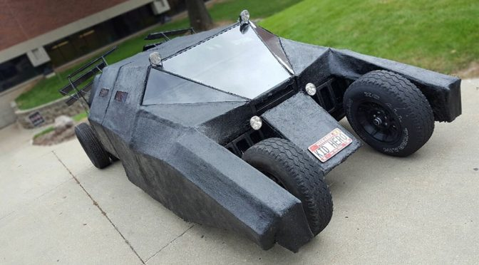 Guy Built Christopher Nolan's Batmobile 'Tumbler' Out Of A Minivan