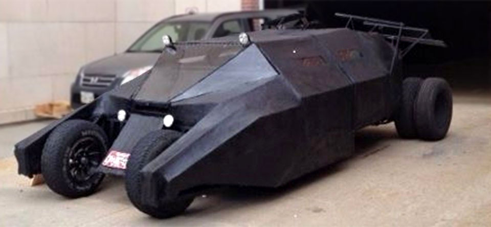 Guy Built A Christopher Nolan's Batmobile 'Tumbler' Out of A Minivan