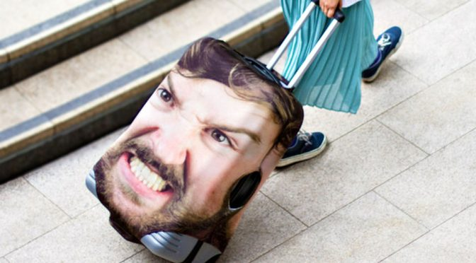 Giant Image Of Your Face On A Suitcase Cover Ensures No One Messes With It
