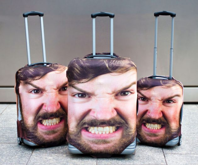 Head Case In-Your-Face Luggage Cover by Firebox
