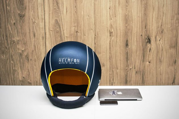 Helmfon Sound Isolating Multimedia-capable Helmet by Hochu rayu