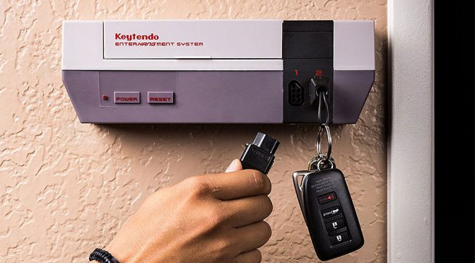Super Geek Is When Your keyholder Rack Is A NES Game Console Like This