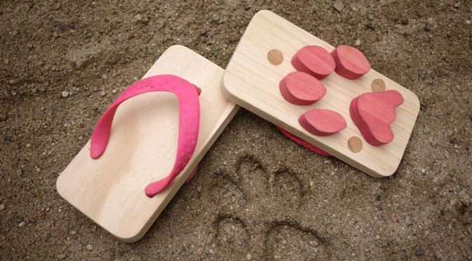 Kiko Ashiato Animal Footprint Toy Beach Sandals For Children