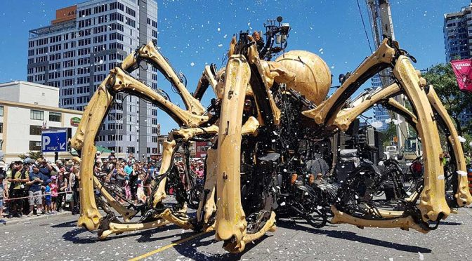 Giant Robot Spider 'Attacked' Ottawa Catholic Church Invites Frowns
