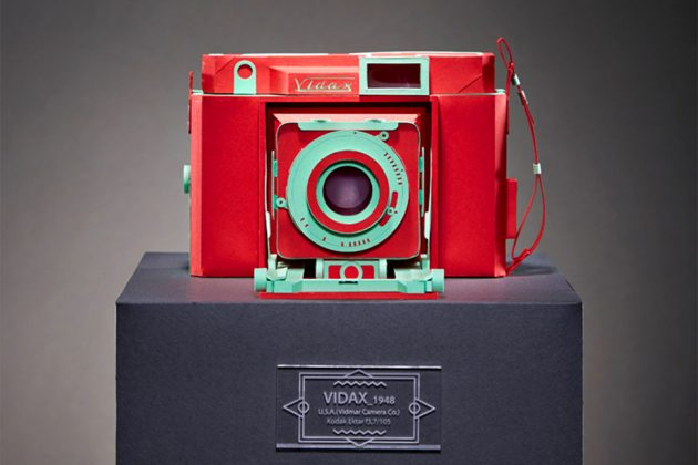 Nostalgia Classic Cameras Folded From Paper by Lee Jihee