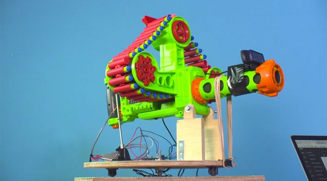 This Face Recognition NERF Blaster Identifies Target Before Shooting