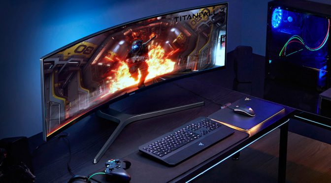 Samsung Introduced Monster Width QLED Gaming Monitor At Gamescom