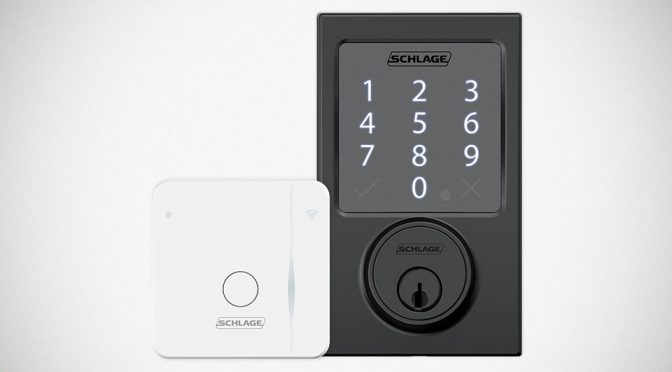 Schlage Sense Smart Deadbolt Android Compatible and WiFi Adapter