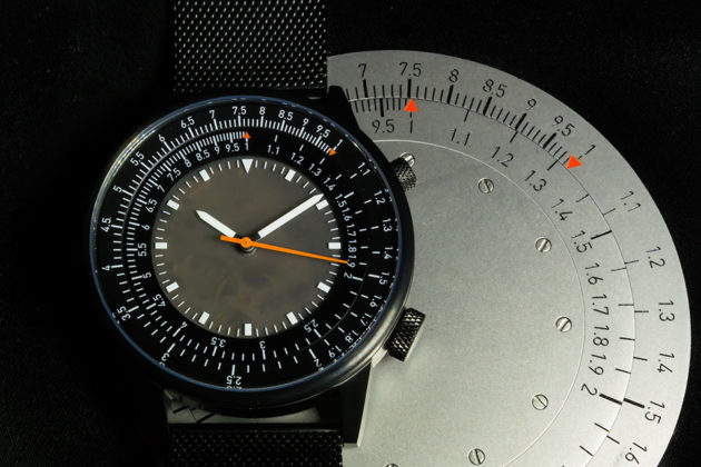 Slide View Watch with Integrated Slide Rule by Caliper Timepieces