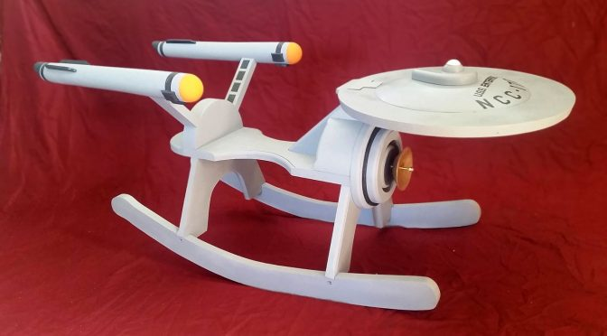 Awesome Star Trek Enterprise Rocker Up The Realism With Federation Gray